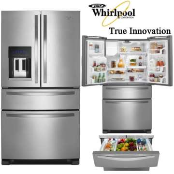 Whirlpool Cf French Door Refrigerator W Double Drawer Freezer System W Installation Removal