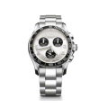 Swiss Army Chrono Classic Stainless Steel Men's Watch With Silver Dial