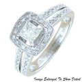 Fine Jewelry - Women's 14K Princess And Round Diamond Engagement Ring In White Gold
