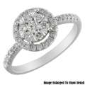 Fine Jewelry � Women�s 14K Round Diamond Engagement Ring In White Gold