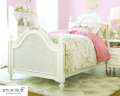 Gabriella Collection; Graceful Vision In White W/Glazed Laced Finish Featuring Classic Tw Poster Bed