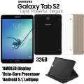 "Samsung 32GB 8"" Galaxy Tab S2 In Your Choice Of Black, White Or Gold And Folio Case"