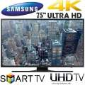 "Samsung 75"" Ultra HD 4K Smart LED HDTV With PurColor - Available In Black Flat Panel"