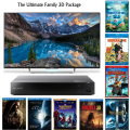"The Ultimate 3D Pkg Sony 50"" Android LED 1080P 3D HDTV, Sony 3D Blu-ray, & 8 FREE 3D Movies"