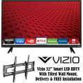 "Vizio 32"" 1080p 120Hz Smart LED HDTV With Tilted Wall Mount, Delivery & FREE Installation"