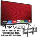 "Vizio 40"" 1080p 120Hz Smart LED HDTV With Tilted Wall Mount, Delivery & FREE Installation"