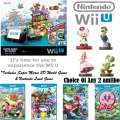 Nintendo Mario Kart 8 Deluxe Set with 4-Add'l Games, Your Choice Of 2-Amiibo's & More