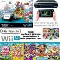 Nintendo Wii U 32GB Super Mario 3D World Deluxe Set W/5-Add�l Games, Stands, Sensor Bar & More