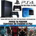 PS4-500GB Ultimate Action Bundle With 2-Wireless Controllers & 4 New Edition Games