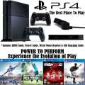 PS4-500GB Sports Bdl+Camera W/4-Games, 2-Wireless Controllers, HDMI Cable, Wired Mono Headset & More
