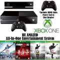 XBOX One�500GB Sports Bdl+Kinect W/4-Games, 2-Wireless Controllers, HDMI Cable, Chat Headset & More
