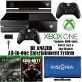 """XBOX One-500GB Action Bundle W/2-Games, 2-Wireless Controllers, Play & Charge Kit & Insignia 48"""" LED"""