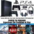Ultimate PS4 Gaming Bundle W/Turtle Beach Ear Force P12 Stereo Gaming Headset; 4-Games &  More