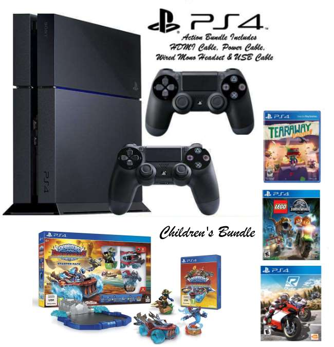 PS4 500GB Children's Bundle, 4-Games, Extra Controller, Wired Mono Headset & More