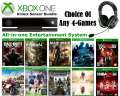 Personalize Your Bundle Featuring 4-NEW XBOX 1 Releases, Kinect Sensor & Turtle Beach Gaming Headset