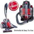 Hoover Zen Whisper Canister Vacuum W/Telescoping Ext Wand, Crevice Tool & Dusting/Upholstered Brush