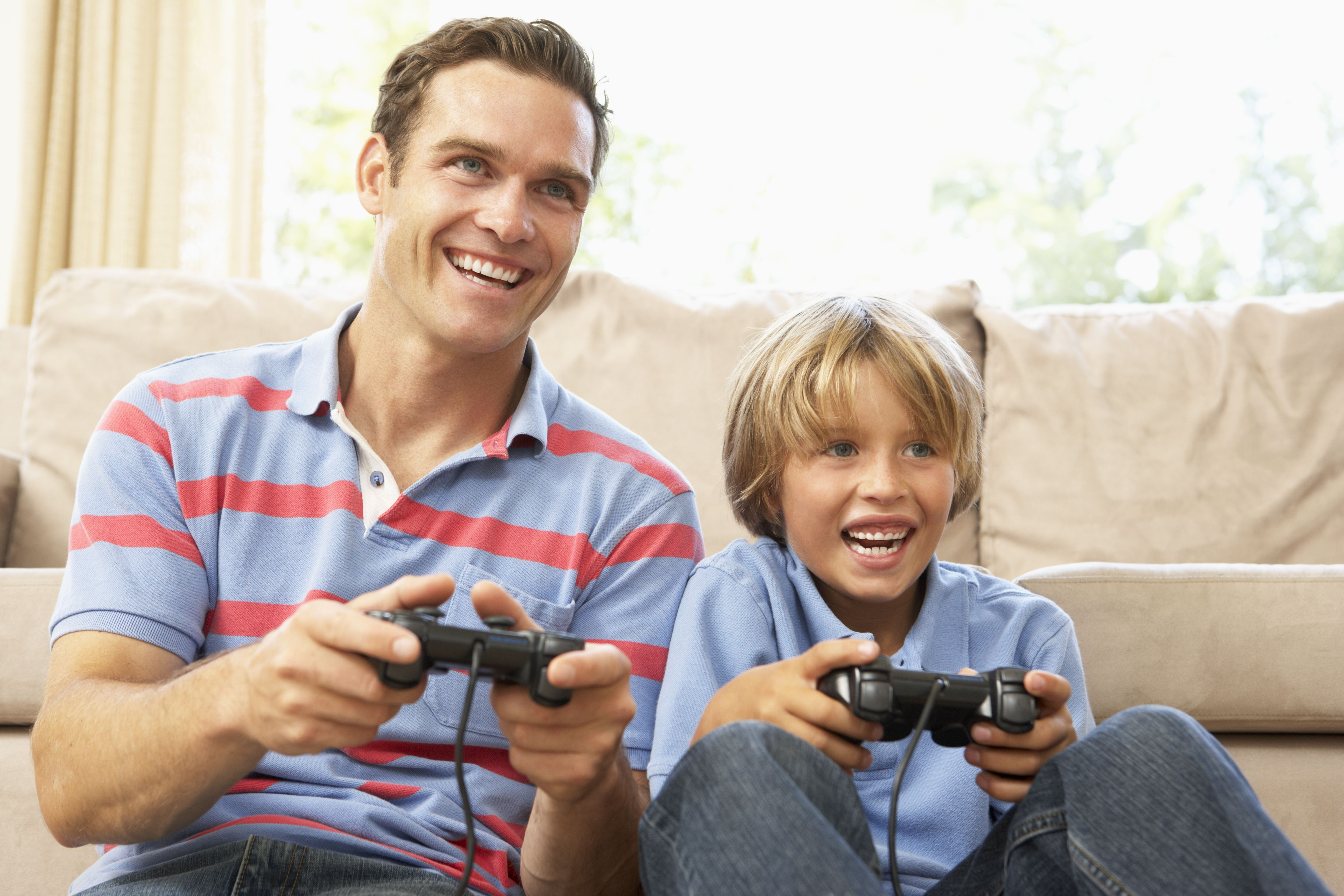 father and son video games