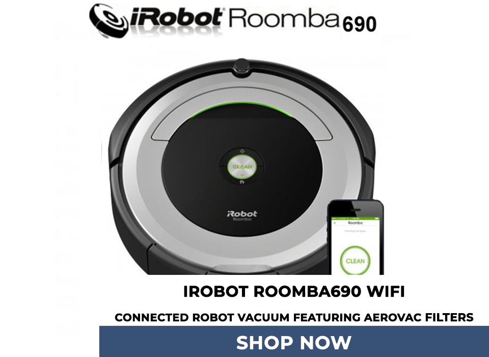 iRobot Roomba690 WiFi Connected Robot Vacuum FeaturinG AeroVac Filters
