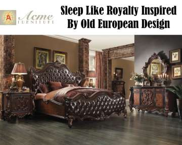 Sleep Like Royalty With The King Size Versailles Bed Set