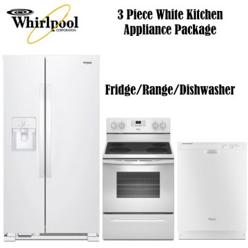 whirlpool 3 piece white kitchen appliance package appliance bundle packages   buy now pay later   financing   bad credit  rh   luthersales com