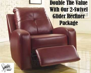 you get double the value with 2 swivel glider recliners - Swivel Recliner Chairs For Living Room 2
