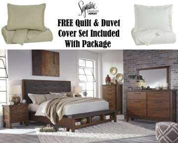 FREE Queen Quilt U0026 Duvet Cover Set With 6 Piece Package