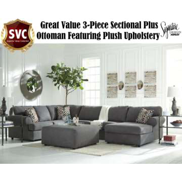 Great Value 3 Piece Sectional Plus Ottoman
