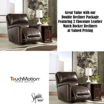 Great Value With Our Double Recliner Package Featuring