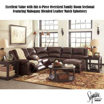 Excellent Value With This 6 PC Oversized Family Sectional