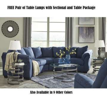 Free Pair Of Table Lamps With Secional And Package
