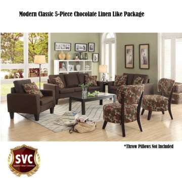 Modern Classic 5 Piece Living Room Package Part 22