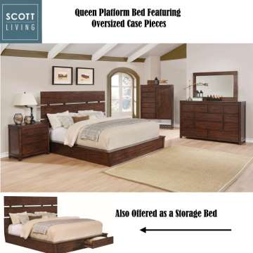 Magnificent Oversized Case Pieces  Queen Platform Bed. Bedroom Furniture   Buy Now Pay Later   Financing   Low Or Bad Credit