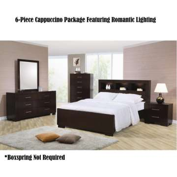 Excellent Value in this Cappuccino 6 PC Package Featuring. Bedroom Furniture   Buy Now Pay Later   Financing   Low Or Bad Credit