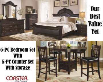 Our Best Value Yet; Luxurious Dark Cherry 6 Piece Traditional Bedroom Set