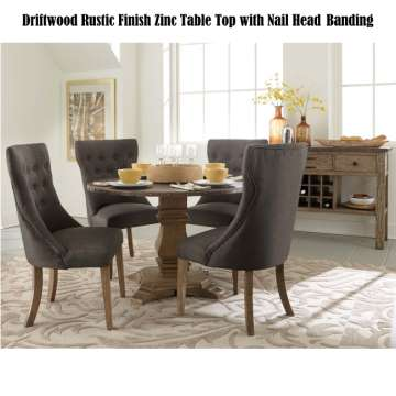 Round 48 Table Chairs Featuring Driftwood Rustic Finish