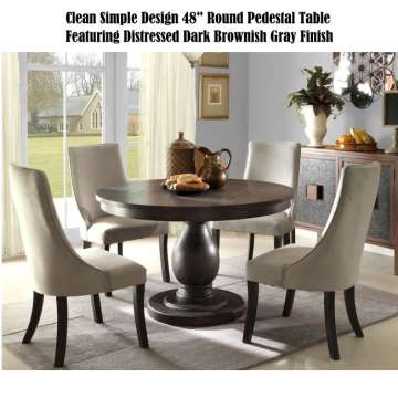 Clean Simple Design 48 Round Pedestal Table Featuring
