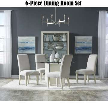 Absolute Elegance 6 PC Dining Set 54 Round Table