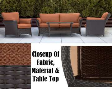 Strathmere Allure 4 Piece Outdoor Seating Patio Set