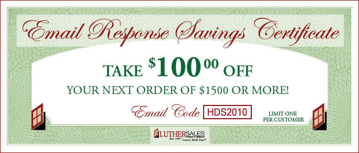Take $100 OFF your next order!