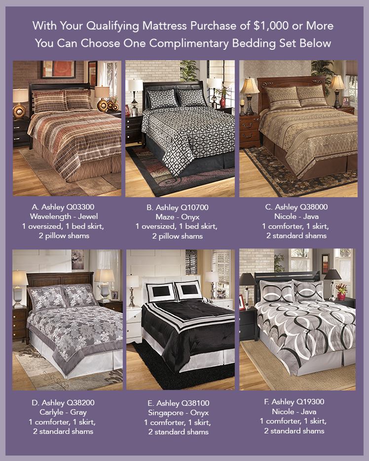 Free Bedding Set with Your Purchase