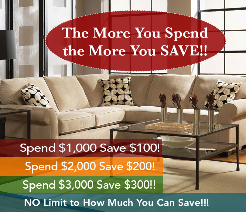 The More You Spend, the More you Save!!