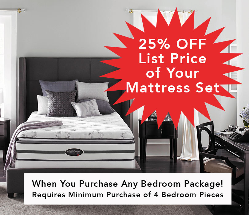 25 Percent OFF Mattress Set with Purchase!!