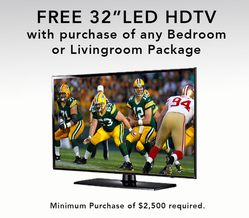 FREE TV with Purchase!!