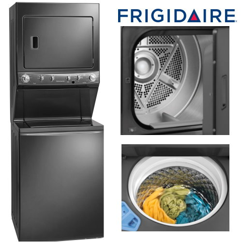 Frigidaire 27 Stackable Top Load Washer Front 220v Electric Dryer