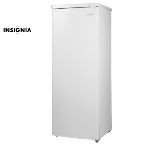 Insignia White 5 8 Cu Ft Upright Freezer With Wheels For Easy