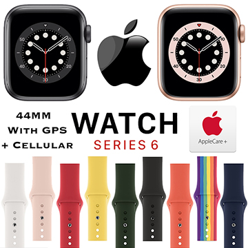 Apple 44mm Series 6 Aluminum Sport Watch With GPS & Cellular Bundled With AppleCare+ Protection Plan
