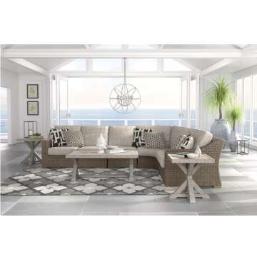 Beautiful 4-Piece  Sectional is Durable Enough for Indoor and Outdoor Use