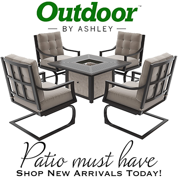 Town Court 5-Piece Conversation Set & Fire Pit Table