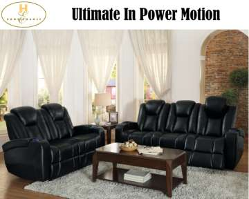 Ultimate Pwr Motion; Featuring Style & Function In Blk Lthr Match Gel W/Tch Reclining & Pwr Headrest