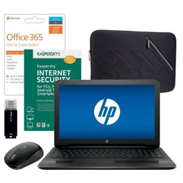 HP Touch-Screen Laptop Bundle with Microsoft Office, Internet Security, Mouse, Sleeve & Flash Drive